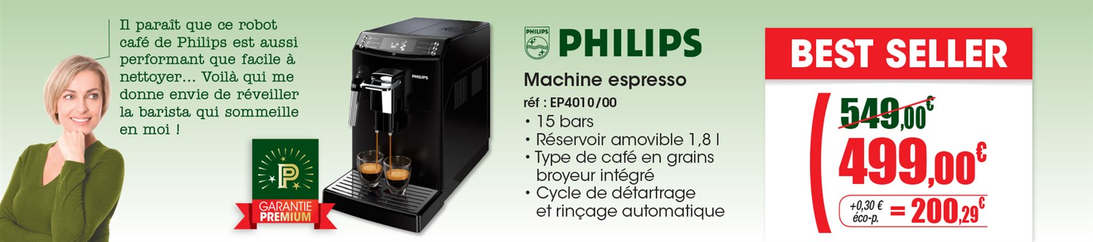Expresso avec broyeur Philips EP4010/00